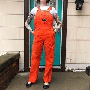 Washington Dee Cee orange overalls